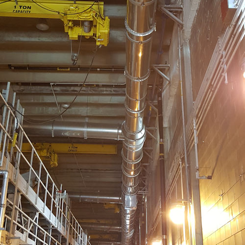 ceiling-mounted wastewater vent pipe